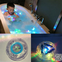 Color Changed Bathroom underwater LED Pond Pool Spa Light Waterproof Bath Tub Kids Toy Funny Shower Flashing Floating Nightlight(China)