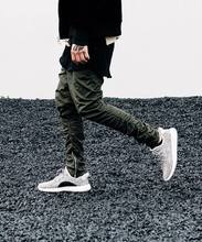 2017 korean kpop hip hop sweatwear pants with side zipper mens urban clothing FEAR OF GOD joggers mens sporting pants black gree