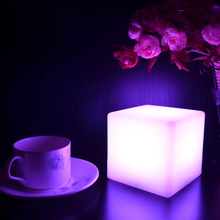 2pcs 10*10*10CM LED Cube Table Light 15 Colors Changing Holiday Wedding Bar Party Christmas Rechargeable LED Lights Desk Lamp