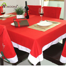 HAKOONA Christmas Tablecloth Plus Snowflake Chair Cover Set Family Restaurant Kitchen Hotel Decorations Table Cloths