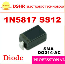 1n5817 ss12 SMA DO214-AC 2000pcs/lot 1A 20V smd Schottky data inside We offer free samples High quality(China)