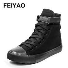 Women canvas shoes for 2017 spring and autumn female High-top pure black classic casual shoes footwear size 35-40