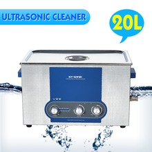 GT SONIC-P20 20L Ultrasonic Cleaner Bath Heating Timer Power Adjustable Stainless Tank(China)