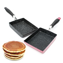 Burning Pan Frying Omelet Fried Eggs Square Pan Aluminum Non-Stick Frying Pan Two Colors Available Cookware(China)