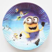 10pcs/lot 7inch Minions Theme Cartoon Paper Plates Kids Baby Shower Happy Birthday For Boy Girl Gift Party Decoration Supplies(China)