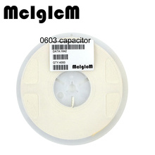 McIgIcM 4000pcs 0603 SMD Thick Film Chip Multilayer Ceramic Capacitor 220nF 470nF 1uF 2.2uF 4.7uF 10uF 22uF