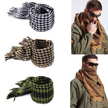 Arab Scarves Men Winter Military Windproof Scarf Cotton thin Muslim Hijab Shemagh Tactical Desert Arabic Scarf(China)