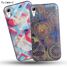 High Quality Soft TPU 3D Relief Print Back Cover Case For HTC Desire 830 Phone Bag Hot New Coque