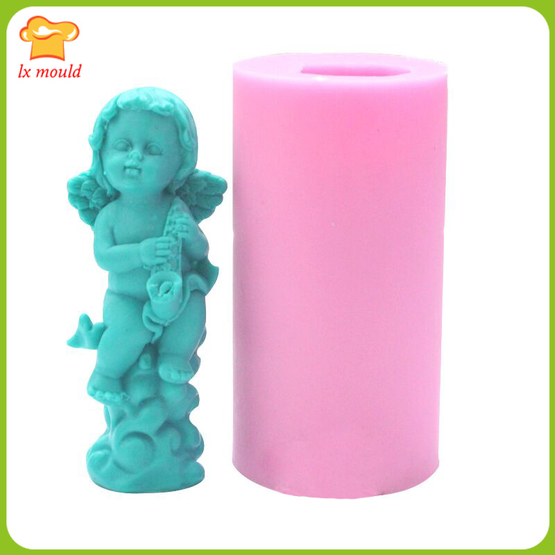 Lets DIY Fairy Girl Angel Silicone Handmade Soap Moulds Candle Mold