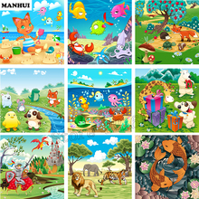 New Product Diamond Embroidery 5D DIY Diamond Painting Panorama animal illustration Mosaic Resin Drill Home Decoration SSC150(China)
