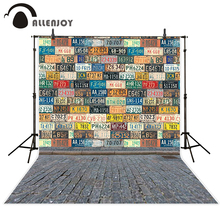 Allenjoy photography backdrops License plates brick floor graffiti cool fond backgrounds for kids backgrounds for photo studio(China)