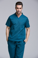 New product A Top women men hospital medical scrub set clothes short sleeve 100% cotton surgical clothes crubs good quality