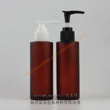 100ml red rose frosted Glass lotion bottle with black/white plastic pump,cosmetic bottle,for Shampoo/hand washing/lotion