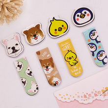 4 Pcs/2Pack New Cute Magnetic Bookmark Cute Cartoon Animals Material Escolar Metal Bookmarks Stationery Book Clip Supplies
