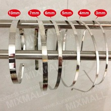 Wholesale 3mm 5mm 7mm DIY Metal Hairbands Hair headbands Accessory Hair Hoops for jewelry DIY Metal Hair Hoops 0.3cm 0.5cm 0.7cm(China)