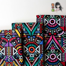 145cmx100cm Printed African Indian Cotton Ethnic Patchwork Special Fabrics  For Tablecloth Cushion Sewing Home Decor Fabrics