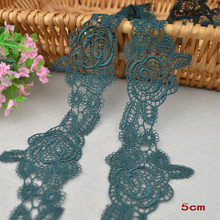 3M/Lot High Quality Alipress Lace Ribbon Tape 5mm DIY Embroidered Net Lace Trim Fabric For Sewing Decoration HB04