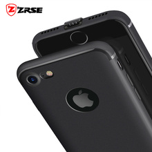 ZRSE Ultra Thin Case for iPhone 7 Plus With Dust Plug Soft TPU Shockproof See Logo Rubber Gel for iPhone 7 Phone Bag Cases