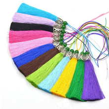 wholesale 11cm Colorful Tassel mixed Charms Cotton Tassel  beads process DIY Handmade Jewelry apparel  Key buckle 24pcs/lot