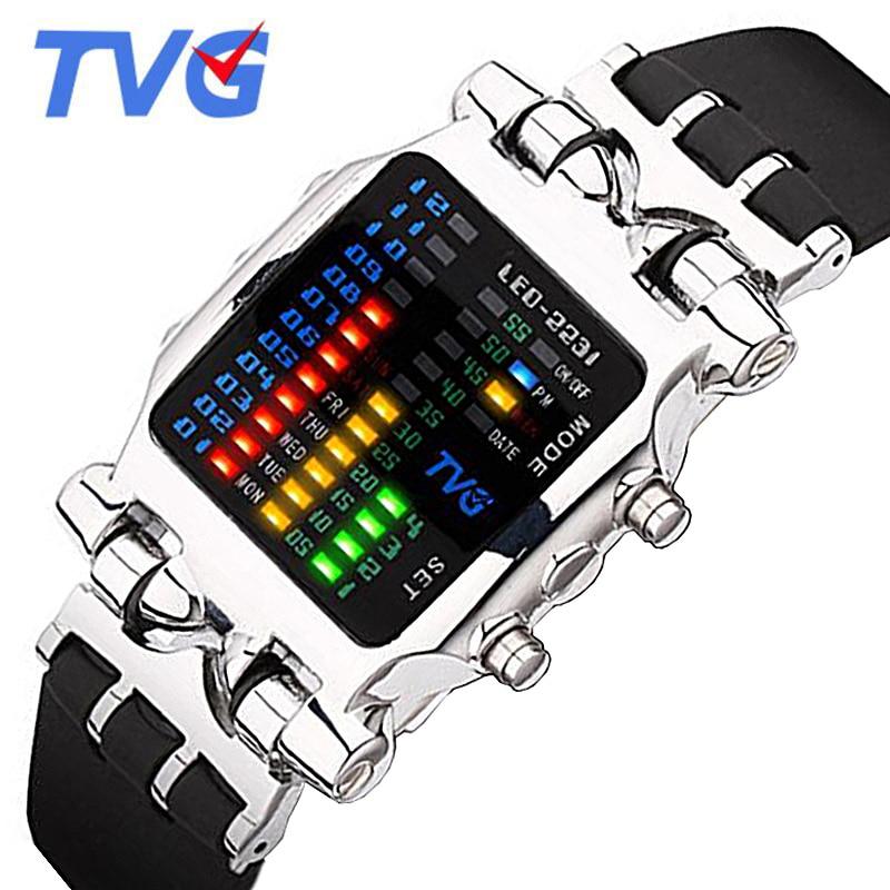 TVG Mens Watches Top Brand Luxury Silicone Watch Men Fashion Sports Led Digital Watch 30M Waterproof Wristwatch relogio masculin<br><br>Aliexpress