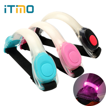 iTimo LED Wrist Arm Strap Light for Bicycle Riding Running Safety Warning Lamps Creative Outdoor Sports Night Light 2 Modes(China)
