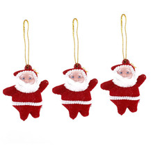 Hot Sale New 3pcs Santa Claus Hanging Ornaments Home Christmas Tree Decoration Gift Xmas Tree Hanging Decor Supplies