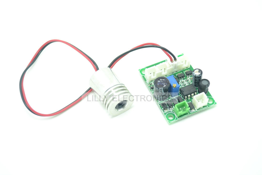 12V 405nm 200mW Violet/Purple Dot Laser Diode Module Cutting / Engraving w/ TTL<br>