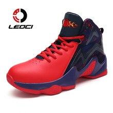 Pria Sepatu Basket Bernapas Ankle Boots Pelatihan Atletik Sepatu Olahraga  Keranjang Homme tinggi-top Sneakers 9045e27682