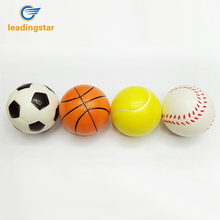 LeadingStar 12 Pcs 6.3cm Mini Stress Balls Soft PU Football Basketball Tennis Baseball Toy for Sport Training Practice(China)