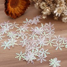 300pcs Snowflake Sequins Santa Claus Ornaments Christmas Tress Holiday Party Home Decor DIY Clothing Accessories Crafts 20*20mm
