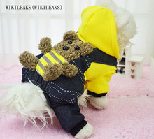 WIKILEAKS(WIKILEAKS) Pet dog bear winter clothes Hooded clothes dog dog cat clothes Teddy Bears clothing clothes Free shipping