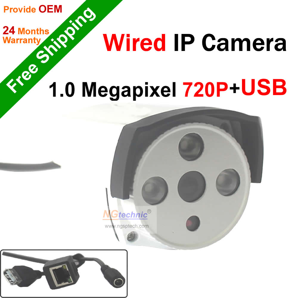 New arrival! 1.0Megapixel P2P Onvif Motion detection 720P IP Camera with USB Storage waterproof IR night vision Network Camera<br><br>Aliexpress