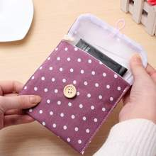 Coin Wallet Storage Bags Organizadores Wave Piont Dot Portable Button Bag Cosmetic Makeup Coin Pouch Multicolors(China)