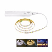 2pcs DC 5V 1m 2m 3m PIR Motion sensor LED strip light 2835 SMD DC port Closet Wardrobe Cabinet LED lamp(China)