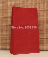 Size 23cm * 12cm * 7.5cm new Dark Red without handle paper bag food packaging kraft paper bag 100pcs