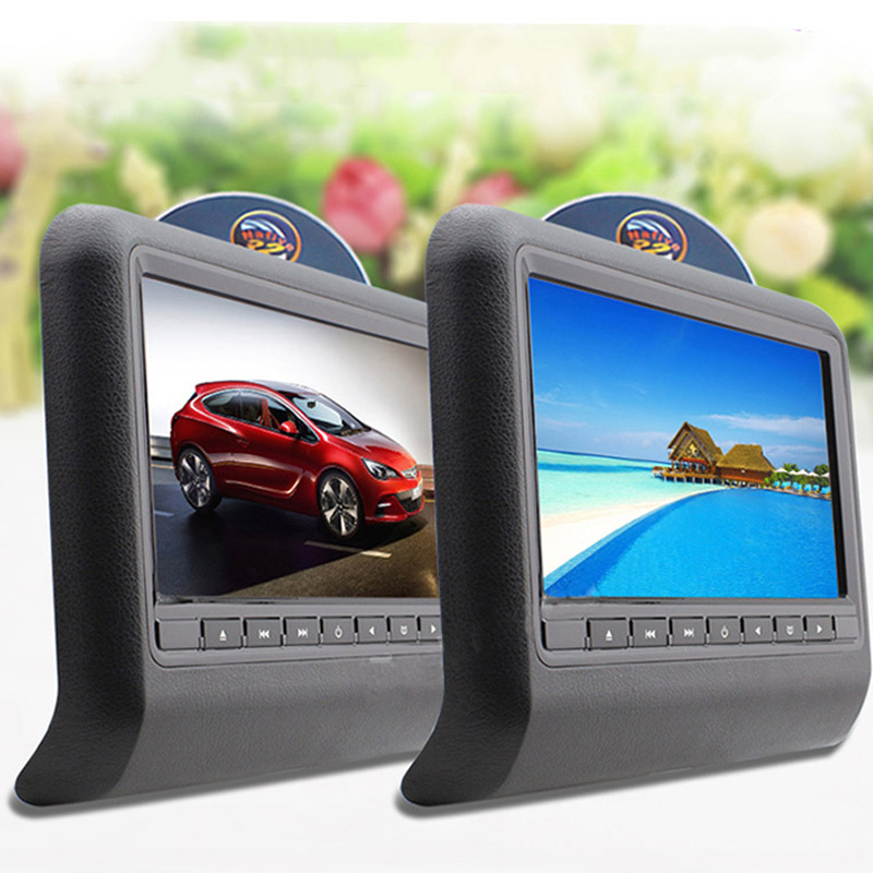Car Headrest DVD Display 9 Inch High-definition LCD Screen Car Monitors LCD Rear Seat Entertainment Auto Video Players<br><br>Aliexpress