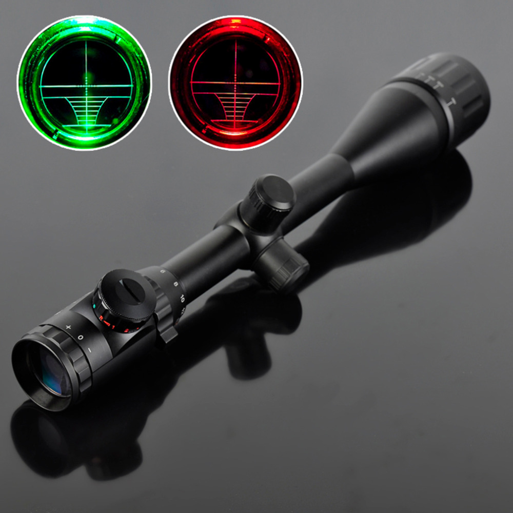 6-24X50 Riflescope Adjustable Green Red Dot Hunting Light Tactical Scope Reticle Optical Sight Scope<br>
