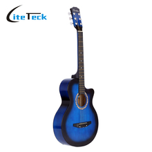 "High Quality 38"" Guitar Guitarra Acoustic Folk Guitar Basswood 6-String Guitar for Students Black Blue Red Purple Optional(China)"