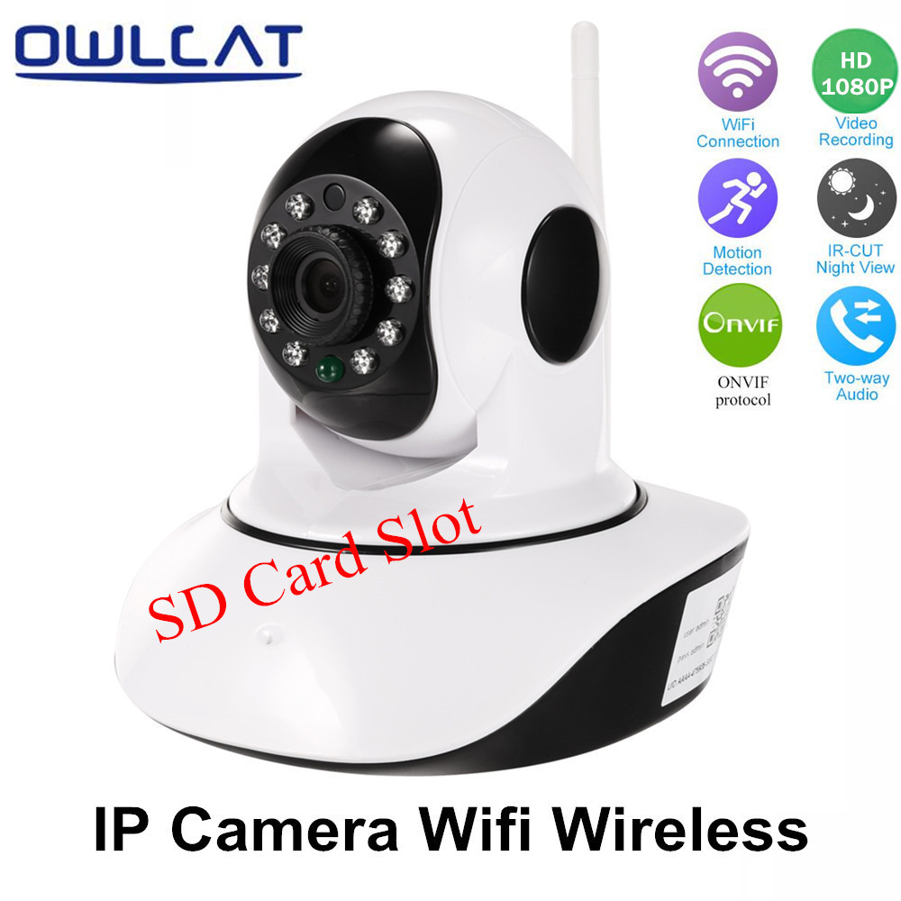 OwlCat Full HD 1080P 720P Wifi IP Camera Wireless Pan/Tilt Two Way Audio P2P Baby Monitor SD Card Slot Dome CCTV Security Camera<br>