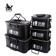 Handing Outdoor Portable Round Bucket Shrink Round Waterproof Fishing Bucket Fishing accessories Fishing tools Live Fish BOX