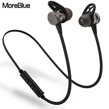 MoreBlue Wireless Bluetooth 4.1 Earphones Metal Magnetic Headphones Heavy Bass Headsets Stereo Sport Running Earbuds with Mic