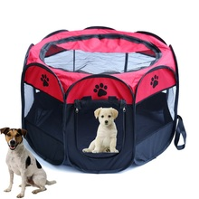 Portable Folding Pet tent Dog House Fordable Travel Pet Dog Cat Play Pen Sleeping Fence Pet Dog Puppy Kennel Cushion(China)