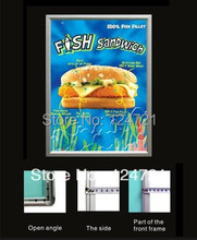 2016 New Restaurant Menu Aluminium Advertising Lightbox,Wall Mounted 600mmx700mm Size Led Poster Frame Free Shipping