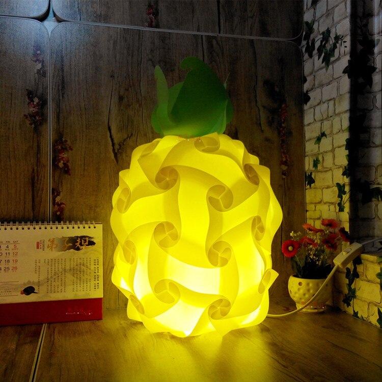 Modern 40cm Pineapple Plant bedroom Table light DIY Elements IQ Jigsaw Puzzle ZE Lamp Shade Ceiling Pendant Lamp Light Lighting<br><br>Aliexpress