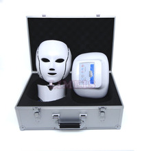 2017 new 3 LED lights facial mask photon therapy microcurrent massage skin rejuvenation machine led facial neck face beauty mask