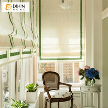 White Color Window Blind High Quality Blackout Curtain Linen/Cotton Rollor Blind Roman Shade Blinds Drapes(China)