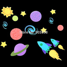 80PCS/LOT.Outer space foam stickers,Kids DIY toy.Scrapbooking kit.Early educational toys.Kindergarten crafts.Wall decoration(China)
