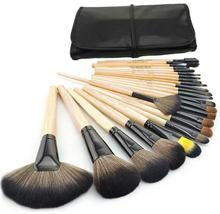 24pcs Makeup Brushes Set Professional Makeup Brushes & Tools Kit of cosmetic Wool Brand Make Up Set Brushes for face with bag(China)
