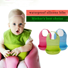 New Style Baby Silicone Bib Stereo Disposable Kids Bibs Children Pick Rice Pocket Cute Boys And Girls Bib 4 Color Wholesale