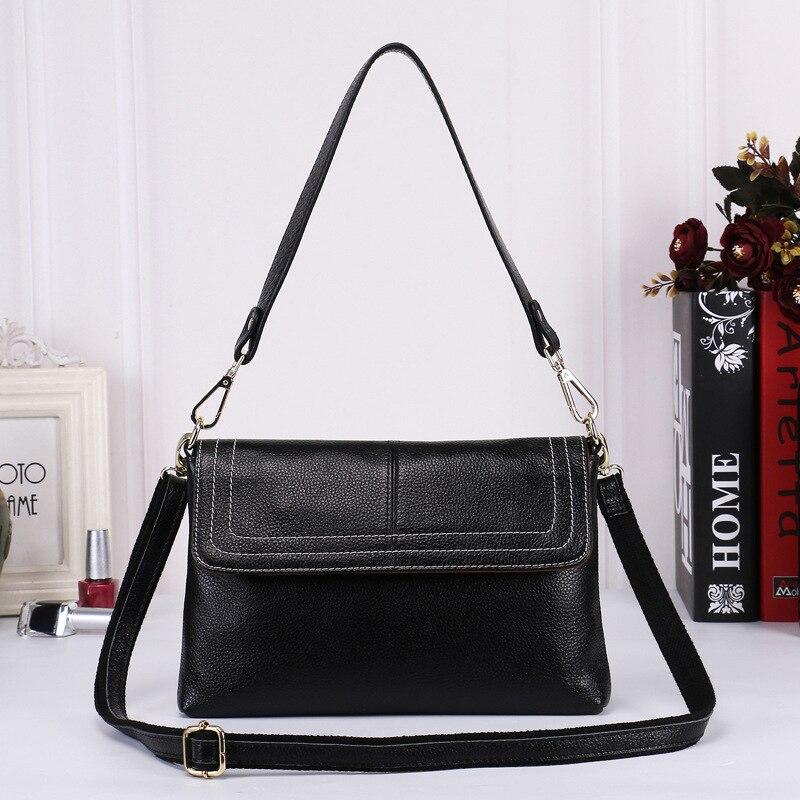 Genuine Leather Satchel 2017 European Fashion Popular Leather Handbag Shoulder Cross Leather Bag<br>
